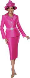 Woman in Pink Suit
