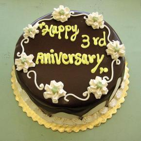 Happy-3rd-Anniversary Cake